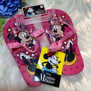 NWT Minnie Mouse Flip Flops size Large 9/10